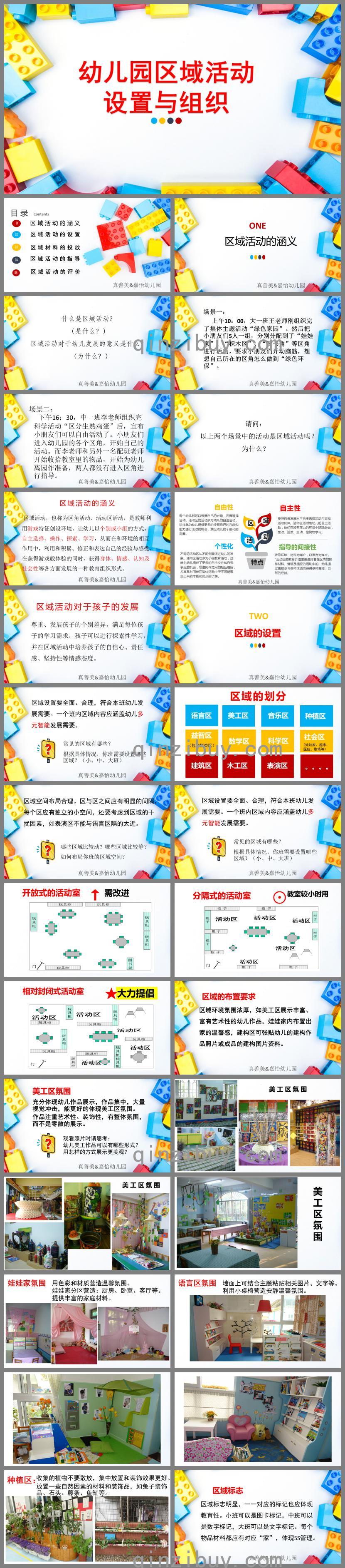 幼儿园区域活动的设置与组织PPT课件