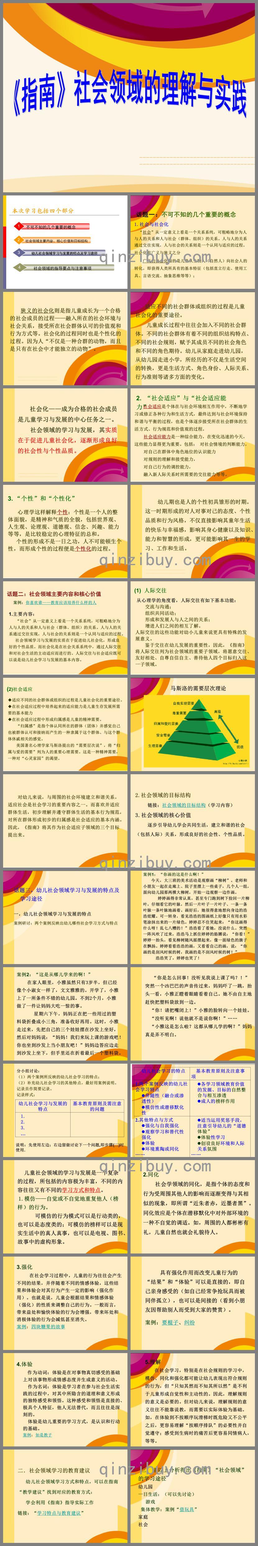 幼儿园指南社会领域的理解与实践PPT课件