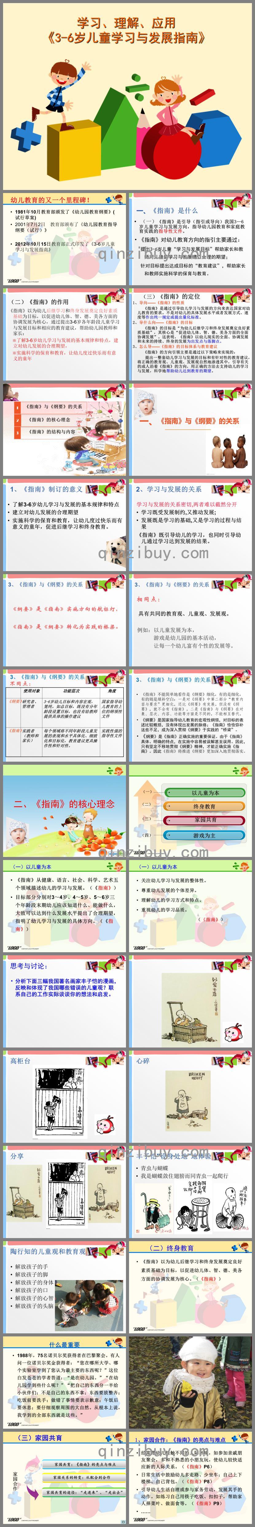 学习、理解、应用3-6岁儿童学习与发展指南PPT课件