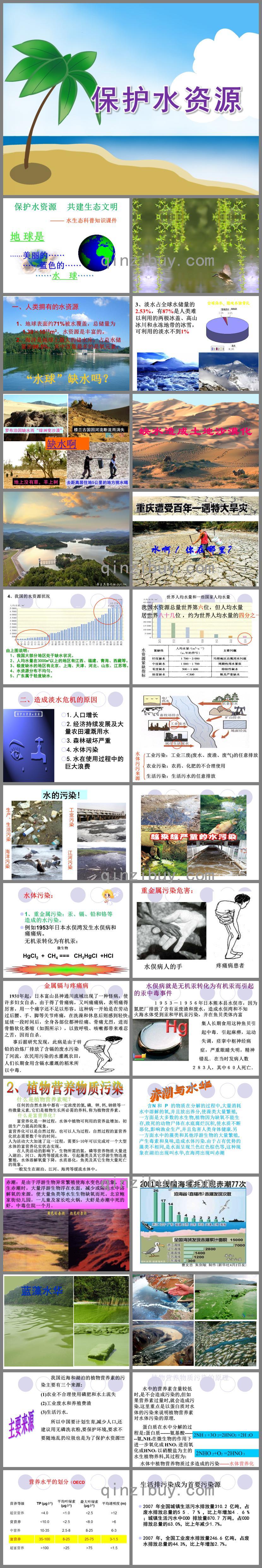 大班语言保护水资源PPT课件