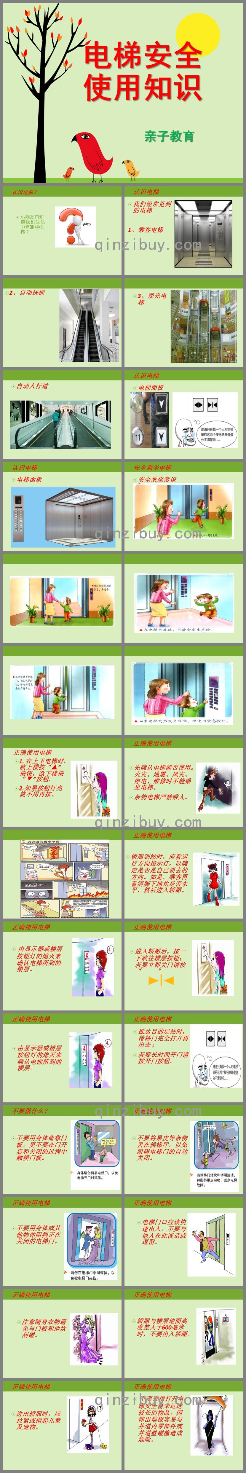 幼儿园儿童电梯乘坐安全知识讲座PPT课件