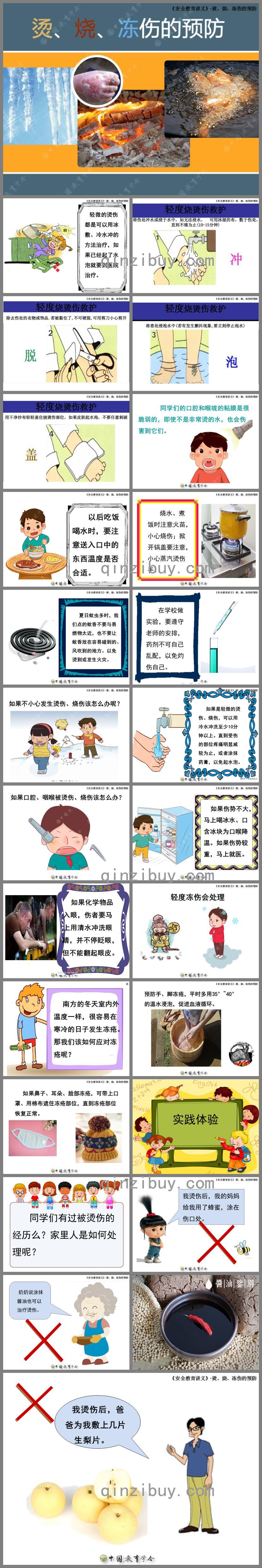 幼儿园大班安全防止烫伤PPT课件