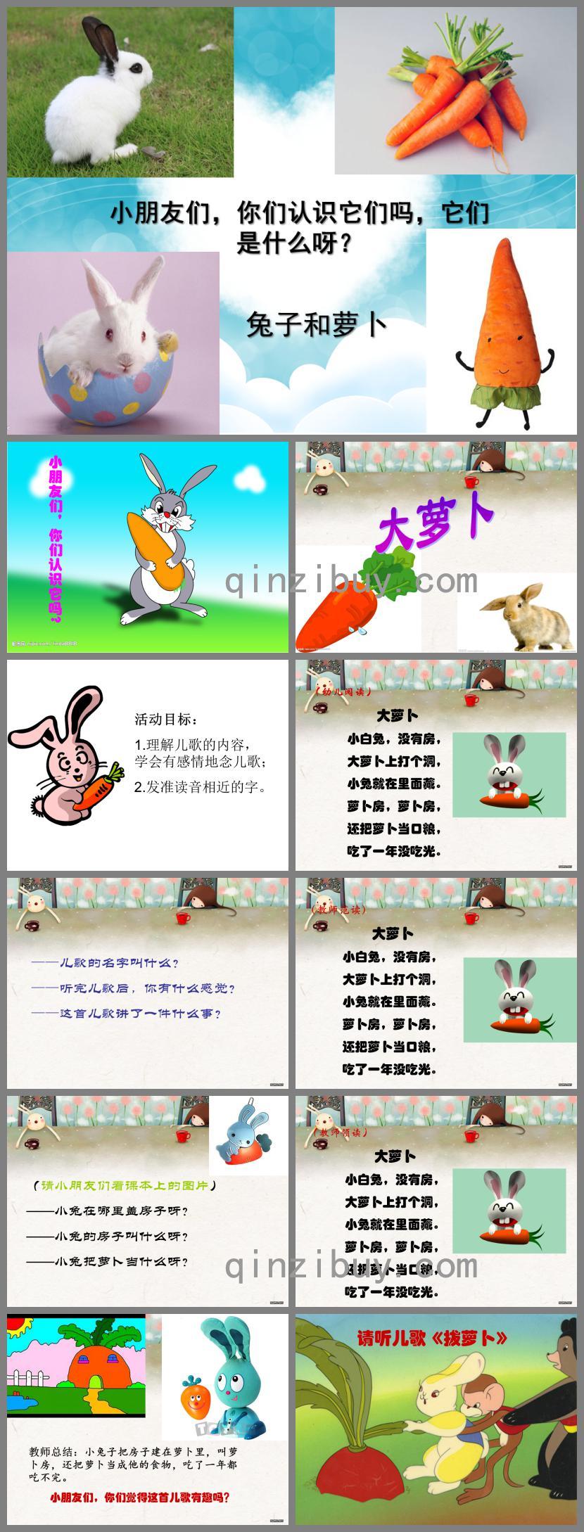 幼儿园小班下学期大萝卜PPT课件