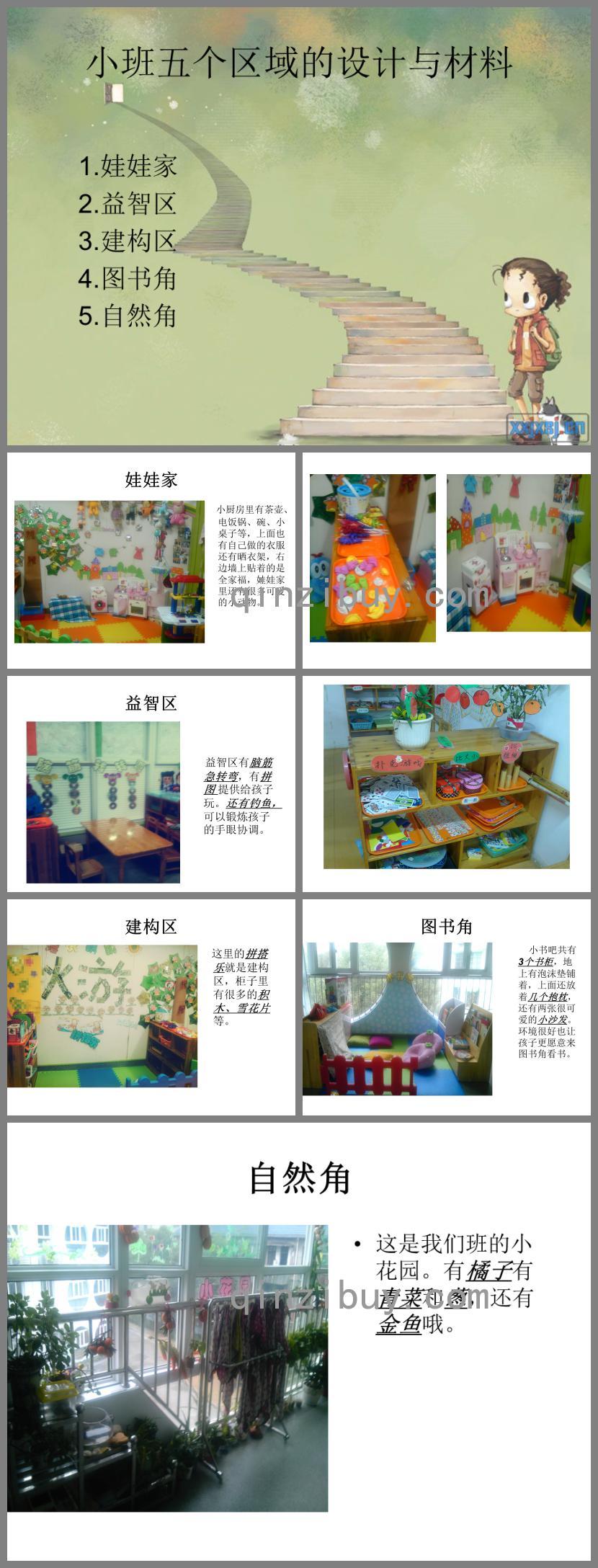 幼儿园小班五个区域的设计与材料PPT课件