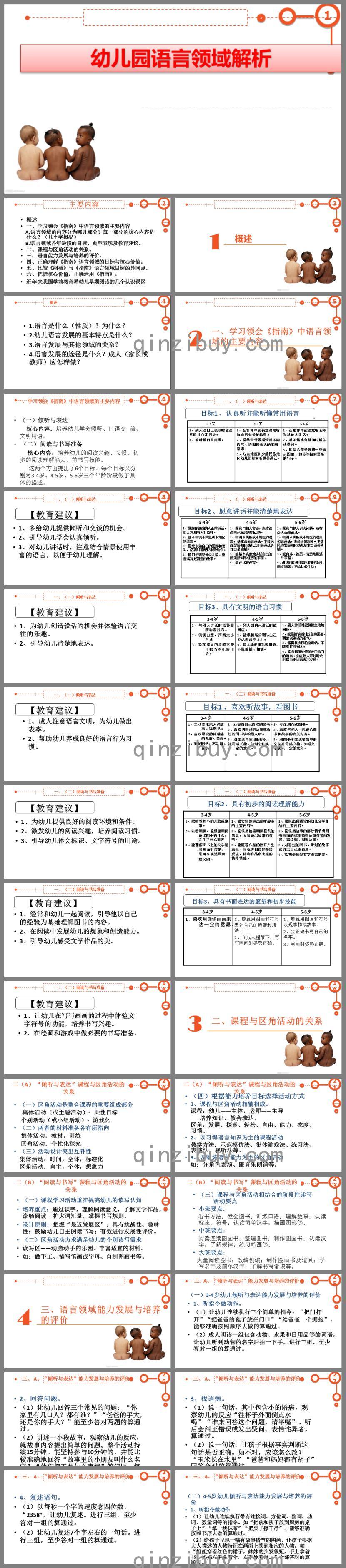 幼儿园语言领域指南解析PPT课件