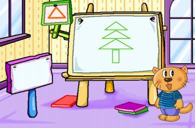 幼儿园游戏认识图形FLASH课件动画