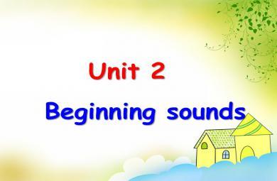 剑桥少儿英语Beginning sounds PPT课件