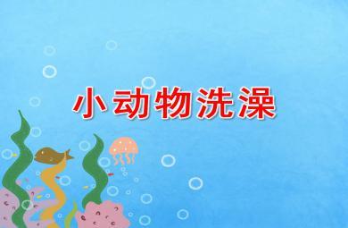 小班科学小动物洗澡PPT课件教案
