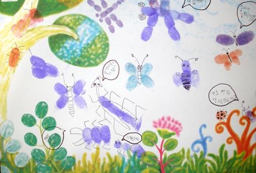 幼儿园大班手印画教案:昆虫朋友