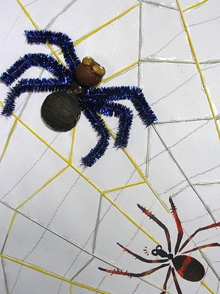 幼儿园大班美术造型教案:制作蜘蛛网—幼儿园大班