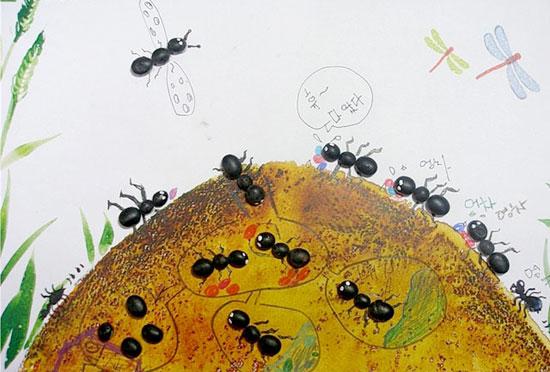 [转载]勤劳的蚂蚁_幼儿园大班美术教案图片