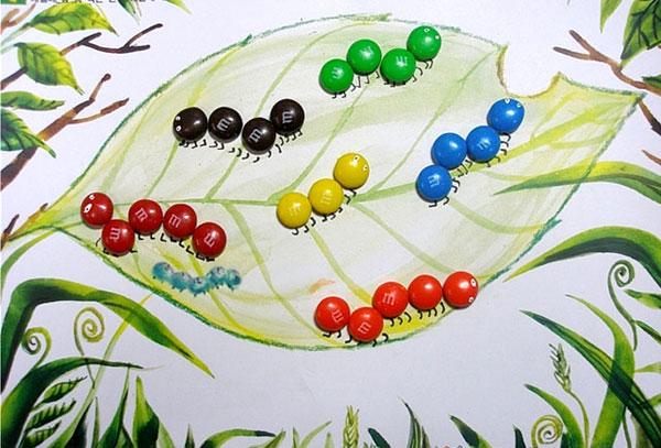 大班美术教案:树林里的幼虫图片