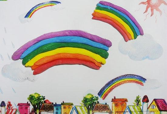 幼儿园大班美术教案:彩虹