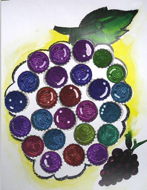 大班美术教案:葡萄串儿—幼儿园大班教案