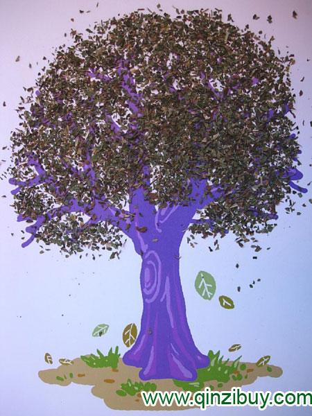 幼儿园美术造型教案:秋天的树图片