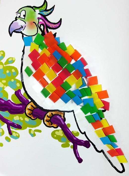 中班幼儿棉签画_中班教案漂亮的羽毛