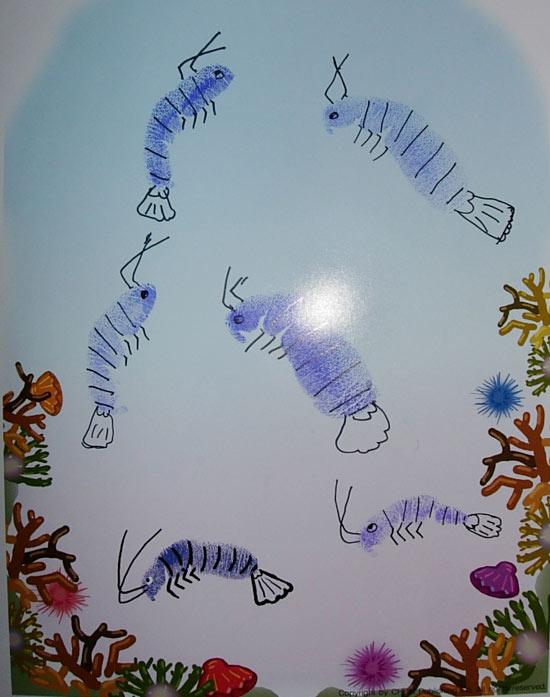 幼儿园大班美术教案:海里的虾图片
