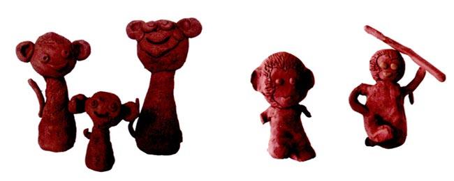 幼儿园大班美术教案陶艺活动:小猴的一家
