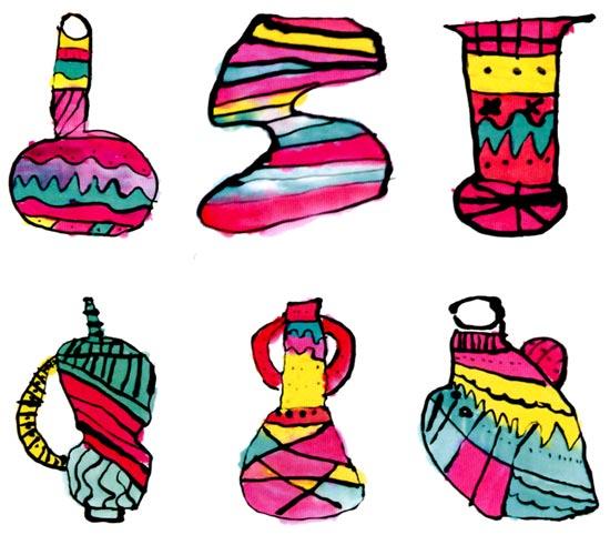 活动目标 1、欣赏各种花瓶的造型、色彩与花纹,大胆设计自己喜欢的花瓶。 2、能迁移已有经验,运用勾线法、平涂法等方法画出花瓶。 活动准备 1、课件:不同造型、色彩与花纹的花瓶图片多幅。 2、国画工具材料。 活动过程 1、教师播放课件,引导幼儿欣赏、感受各种花瓶的不同特点。 (1)充分欣赏与表达。 幼儿欣赏课件中多幅不同的花瓶图片,与同伴自由交流。 (2)整理、归纳花瓶的特点。 教师:这些花瓶有哪些形状?它们的花纹图案是什么样的? 教师小结:这些花瓶有方的,有圆的;有的花瓶脖子长长的,有的短短的;有的有耳朵