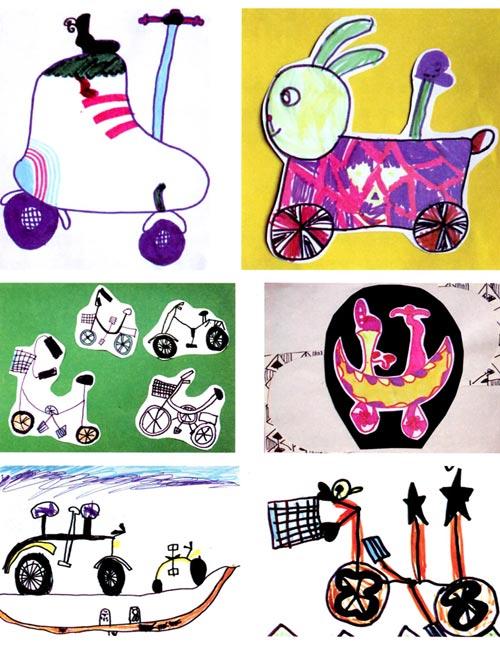 大班画画教案设计:单车一族—幼儿园大班教案