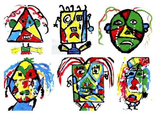 幼儿园大班画画教案设计:哭泣的女人