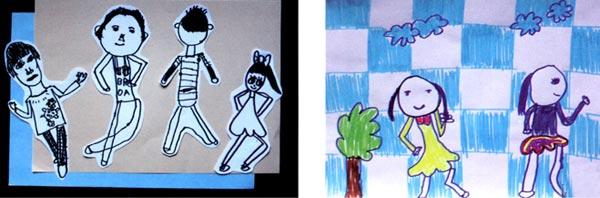 幼儿园大班画画教案设计:安静的你,我,他
