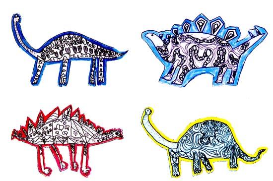 幼儿园大班美术教案设计:大恐龙