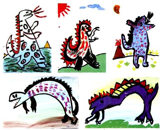 幼儿园大班美术教案设计:侏罗纪公园—幼儿园大班