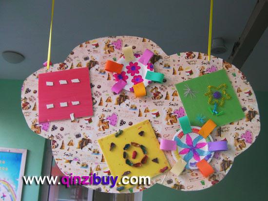 幼儿园吊饰:彩色星空图片