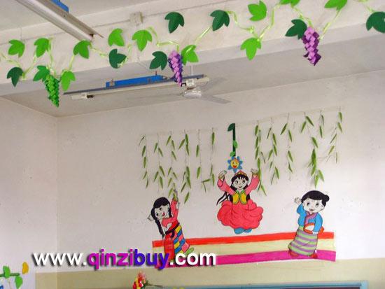 幼儿园吊饰:藤蔓1—幼儿园环境布置图片