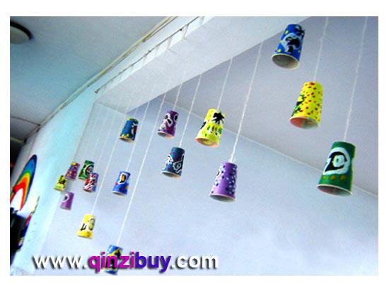 幼儿园吊饰:纸杯风铃—幼儿园环境布置图片