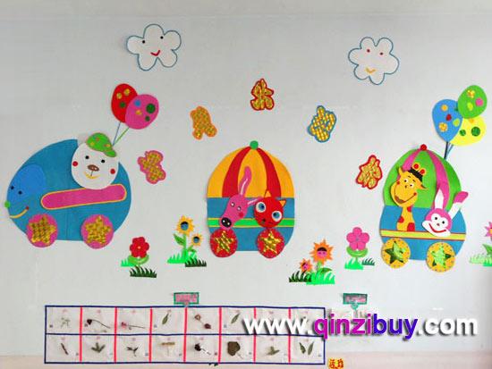 幼儿园主题墙:欢迎小动物