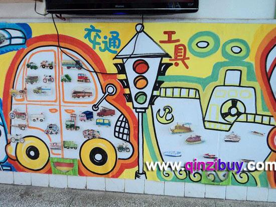 幼儿园主题墙 交通工具2