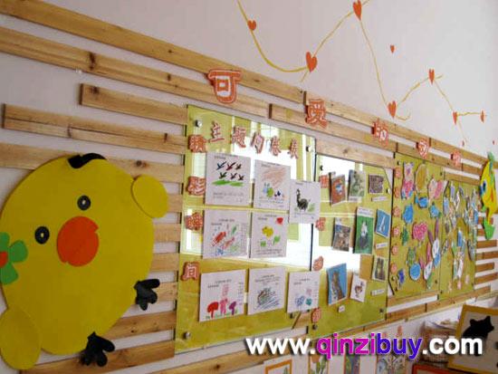 幼儿园主题墙:可爱的动物—幼儿园环境布置图片