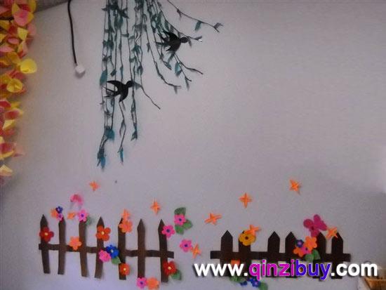 幼儿园春天主题墙:春天的燕子—幼儿园环境布置图片