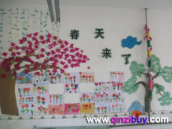 幼儿园环境布置门窗:春天