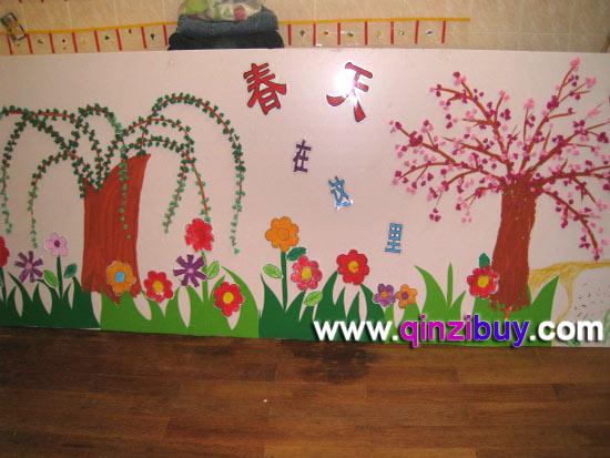 幼儿园春天主题墙:春天在这里