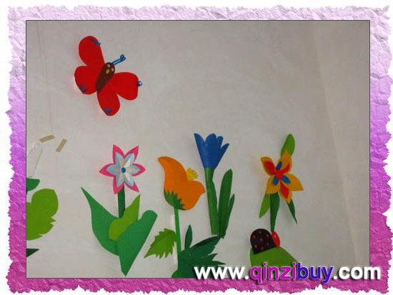 幼儿园春天主题墙:蝶恋花—幼儿园环境布置图片