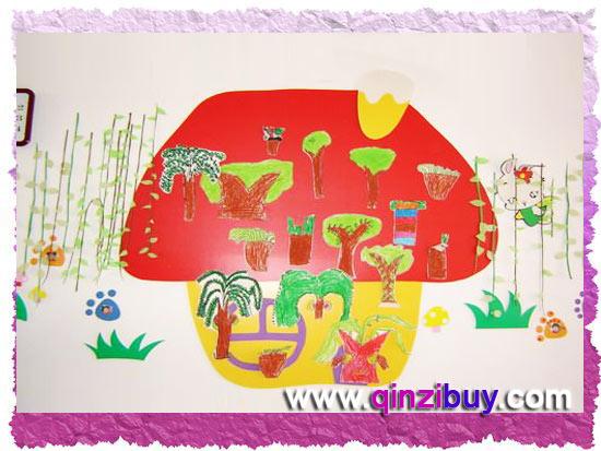 幼儿园春天主题墙:我爱春天—幼儿园环境布置图片