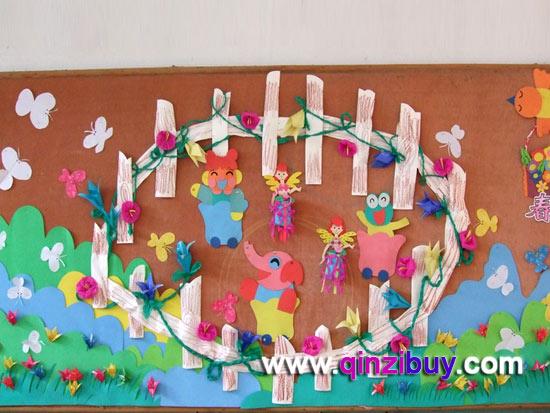 幼儿园大班春天主题墙:热闹的春天