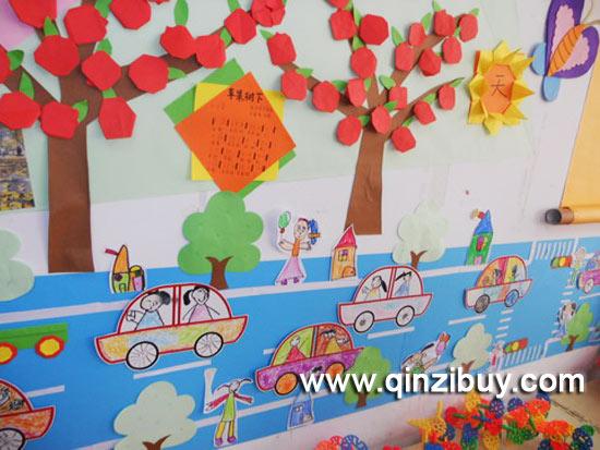 幼儿园秋天环境布置:苹果树下—幼儿园环境布置图片