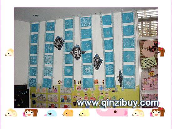 幼儿园主题墙布置图片:蓝印花