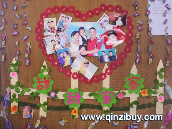 幼儿园主题墙布置图片:甜甜蜜蜜2—幼儿园环境布置图
