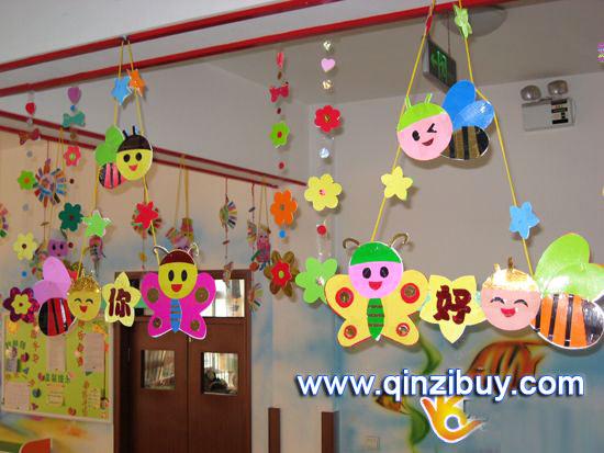 幼儿园吊饰图片:你好—幼儿园环境布置图片