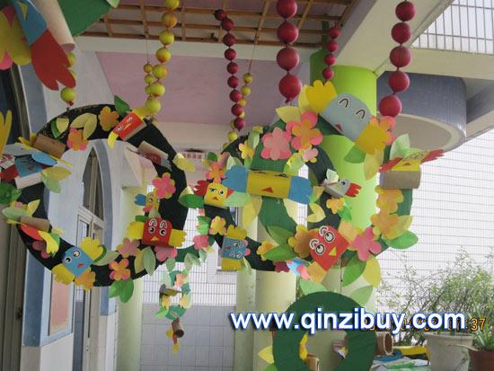 幼儿园吊饰:走廊吊饰—幼儿园环境布置图片