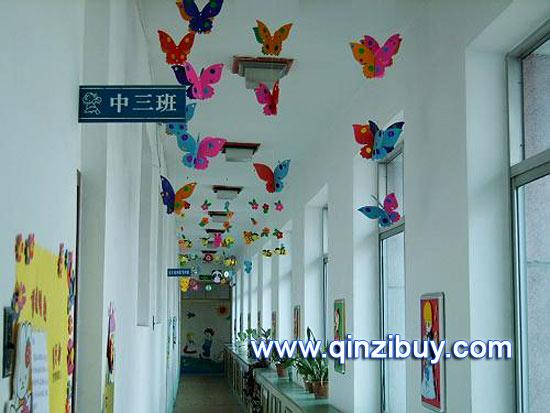 幼儿园走廊吊饰:蝴蝶飞