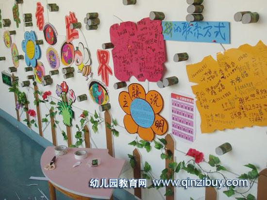 幼儿园主题墙布置:看世界