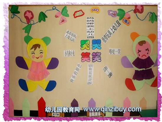幼儿园主题墙布置:哭哭笑笑—幼儿园环境布置图片