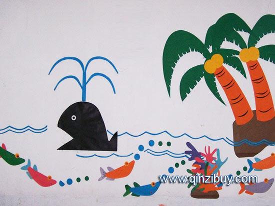 幼儿园主题墙:海豚湾