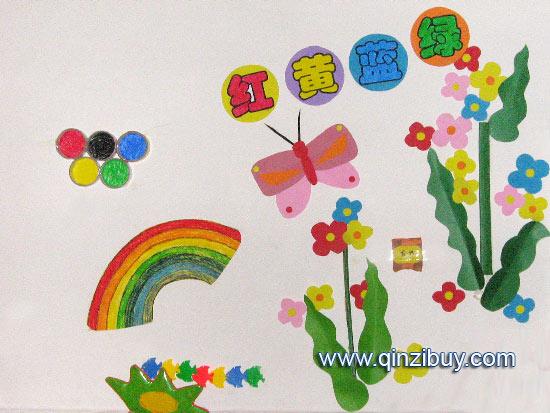 幼儿园主题墙:红黄蓝绿8—幼儿园环境布置图片